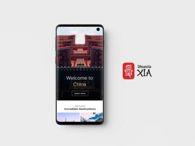 Dinastia Xia Mobile ui app samsung beijing red shanghai china tourism web travel xia