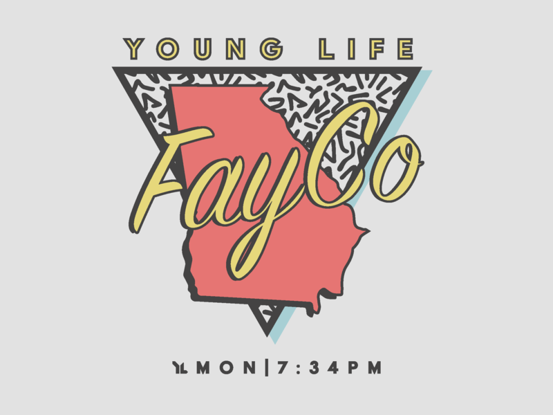 Young Life Club Shirt '18 t-shirt design graphic design