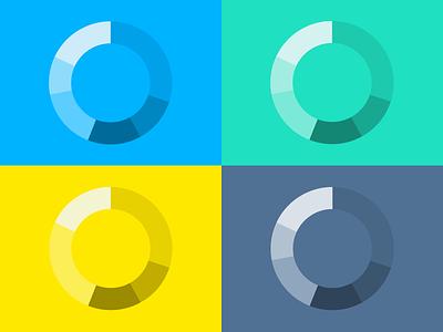Chart colors presentation charts ipad dashboard graph flexible components piechart colors