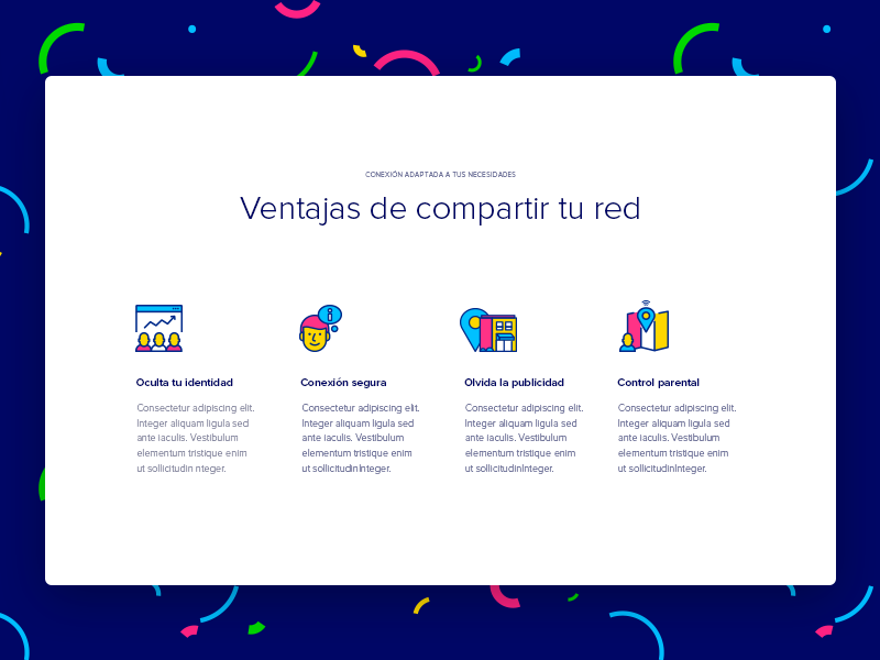Advantages internet share colors connection wifi red landing ify icons advantages