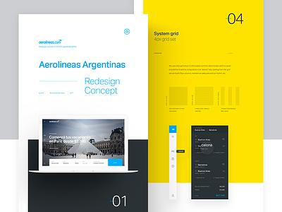 Aerolineas Argentinas - Redesign Concept idea system grid concept redesign airlines airways argentinas aerolineas