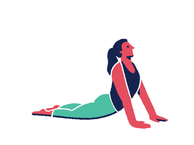 Pilates 01 minimal flat color solid illustration yoga sport pilates