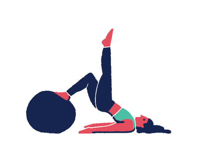 Pilates 02 minimal flat color solid illustration yoga sport pilates