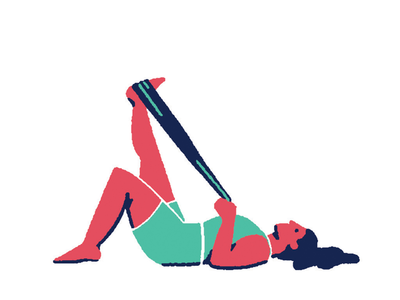 Pilates 04 minimal flat color solid illustration yoga sport pilates