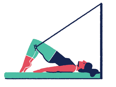 Pilates 05 minimal flat color solid illustration yoga sport pilates