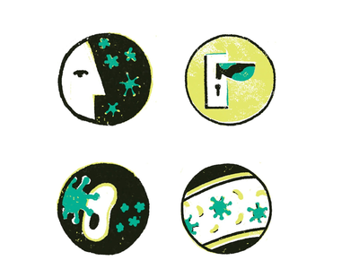 Icons graphic texture health medicine virus flu icon