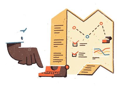 Business Plan graph startup map plan business 2d procreate texture digital editorial illustration