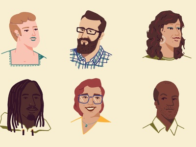 Random People III flat portrait graphic digital illustration