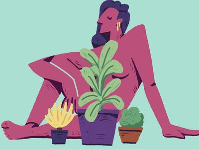Plant portrait 01 plant character color procreate 2d flat graphic illustration