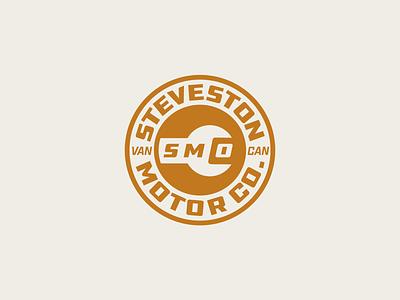 Motor Co. Branding vancouver badge garage mechanic tools craft brand identity gold canada logo brand sticker yeg design alberta edmonton