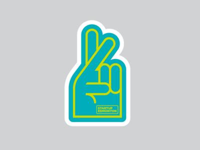 Startup edmonton sticker foam hand