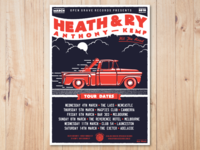 Gig Poster - Heath Anthony & Ry Kemp