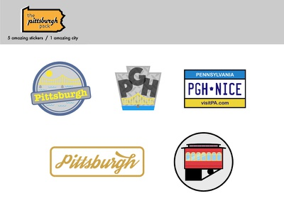 The Pittsburgh Pack the burgh stickers yinz steelers bridge city of bridges pittsburgh pgh