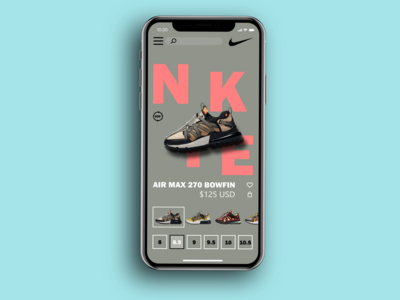 Nike iOS App UI