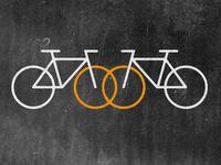 bicycle themed wedding icon