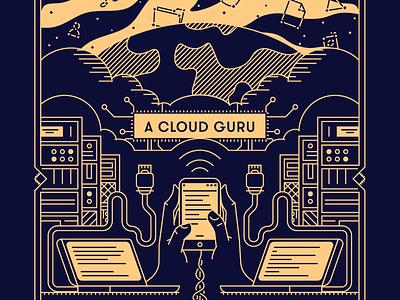 A Cloud Guru 2020 Shirt linear learning cloud t-shirt
