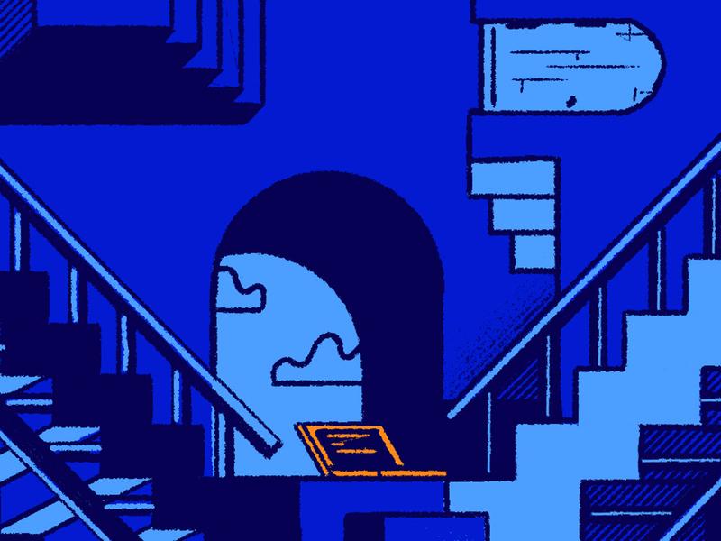 Cyber Security Labyrinth career path laptop cloud labyrinth blog illustration