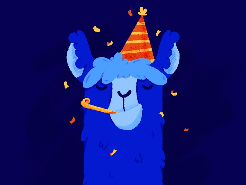 The Party Llama party llama illustration