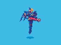 Overwatch Pixels - Pharah