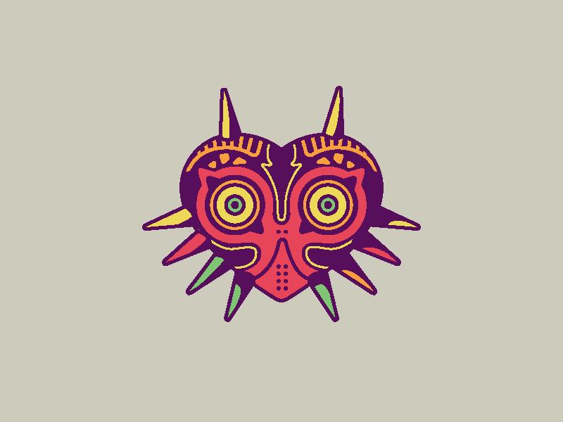 Lost Friends lapel pin majora video game mask vector pin ocarina nintendo link skull kid zelda