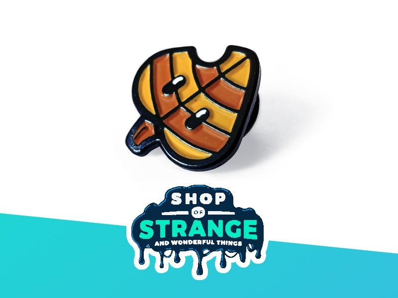 Tanooki Leaf - Lapel Pin video games tanooki super mario bros shop of strange pin nintendo mario leaf lapel pin gaming enamel pin
