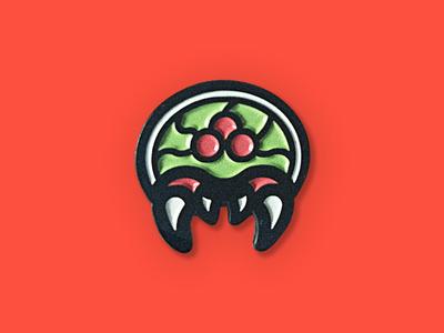 Metroid - Lapel Pin enamel vector video game lapel pin nintendo samus pin metroid