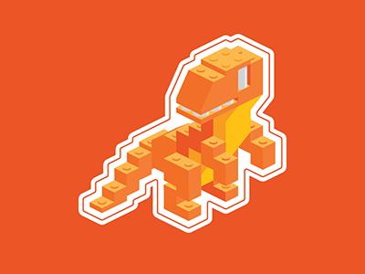 Lego SpiceRex Sticker dinosaur legos spiceworks t-rex
