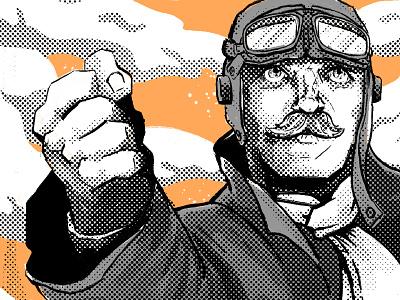 Do Your Bit! poster pilot illustration