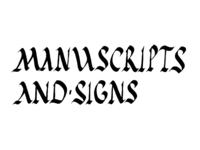 Manuscripts And Signs