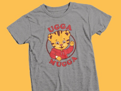 Daniel Tiger's Neighborhood mr rogers mrrogers cat tiger tshirt daniel tiger illustration
