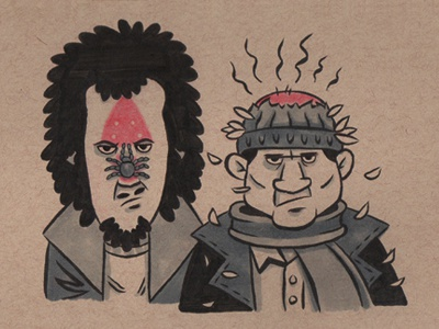 The Wet Bandits home alone home alone christmas movie classic illustration pen ink marker