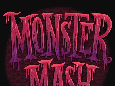 Monster Mash monstermash monster halloween lettering type design typography hand lettering