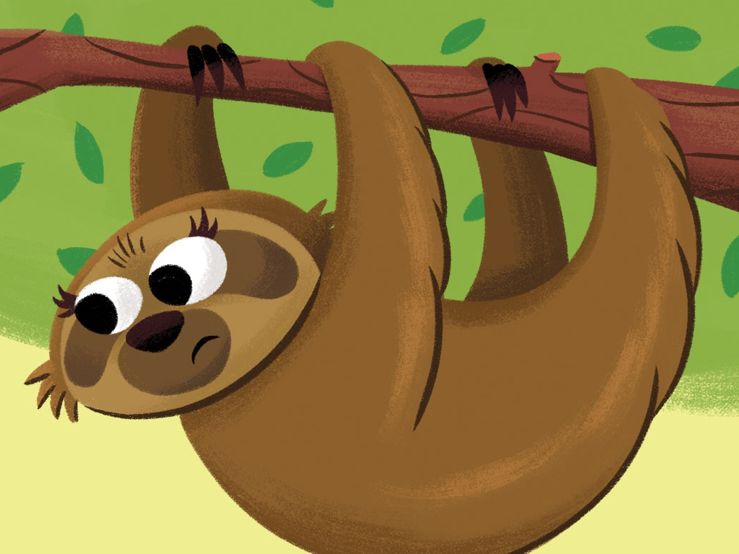 Hangout rainforest tree sloth picture book picturebook childrens book kidlitart kids illustration