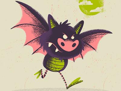 Drawlloween 2019 - Bat Kid bat kidlitart spooky procreate halloween ipad pro ipadpro retro illustration