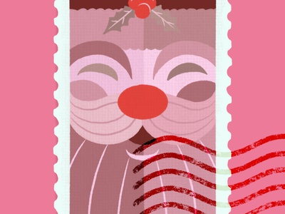 Santa Stamp stamp santa claus santaclaus santa christmas procreate ipad pro illustration