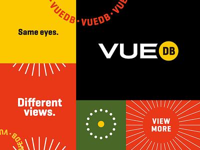 VUEdb Visual Identity Proposal graphic  design branding