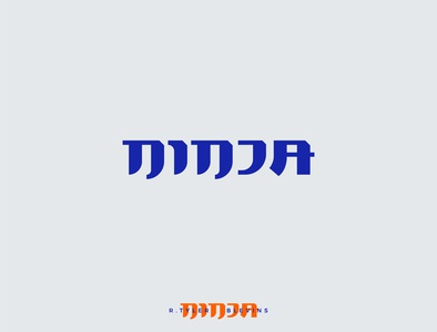NINJA rebrand logo study (not used)