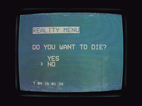 DO YOU WANT TO DIE?
