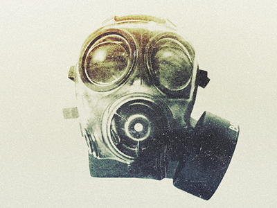 Gas Mask gas mask war one two i ii bombs filthy air vintage retro grey black navy green teal faded leather rubber breathing world war world war 1 world war 2 world war i world war ii