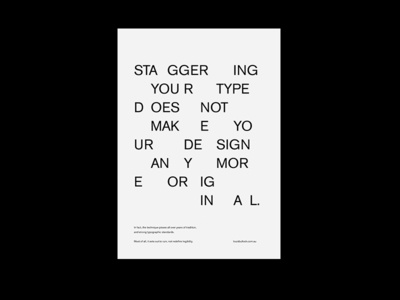 Staggered Type Piss-take typographic swiss trends type staggered graphic design design