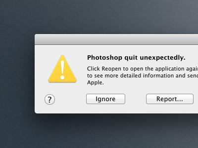 Photoshop CS6 Crash [CSS] by Louis Bullock on Dribbble