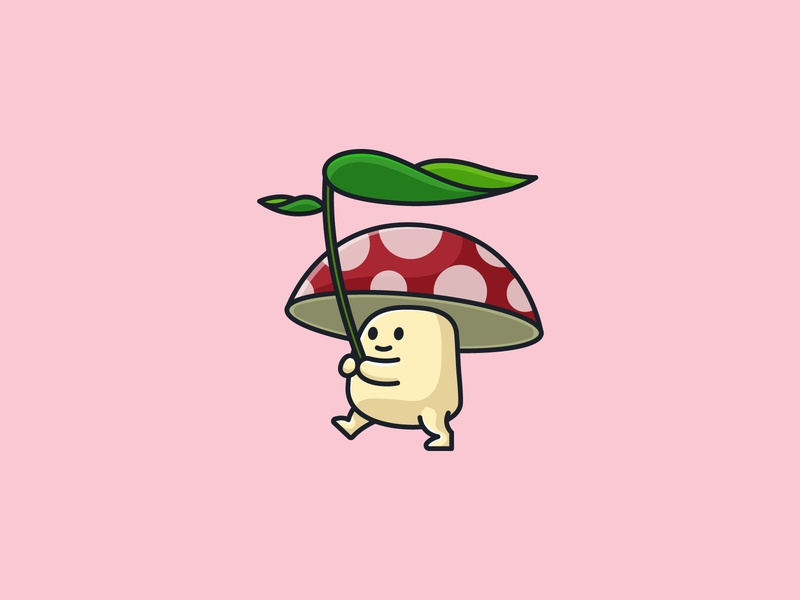 Cute Mushroom character design art logo vector illustration funny kawaii cute iconography character mascot design icon