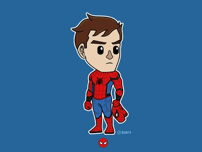Spider-Man movie design character chibi heroes super comic man spider peterparker stanlee marvel