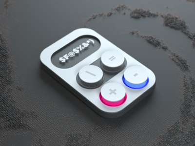 Minimal Calculator art 3d art gadget plus cinema4d octane stillframe 3d ux ui calculator minimal