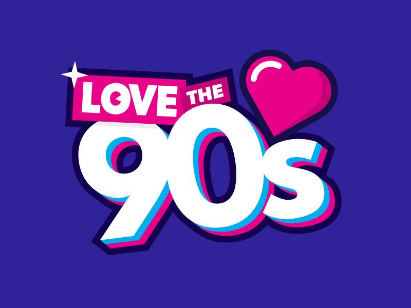 Love The 90s affinity designer logo logotype branding