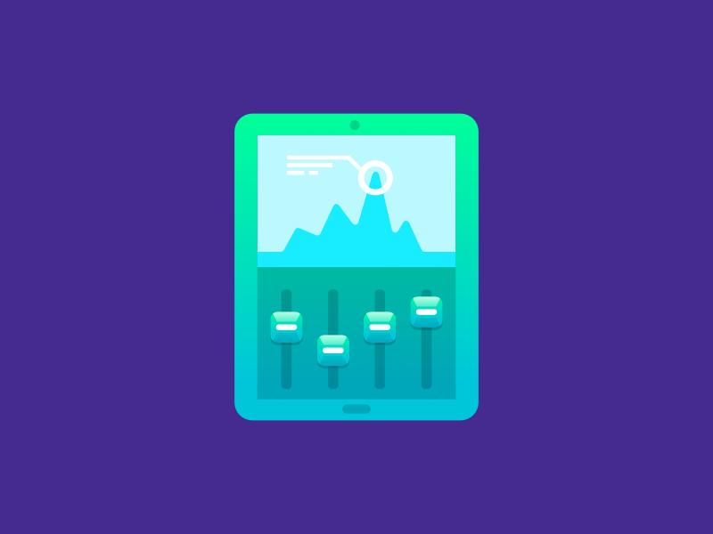 Telefónica Icons Series 1 - Tablet icon affinity designer illustration