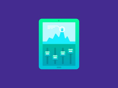 Telefónica Icons Series 1 - Tablet icon affinity designer illustration