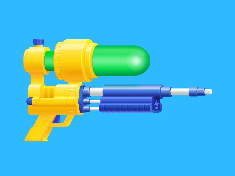 Super Soaker illustration water gun watergun soaker supersoaker super soaker affinity designer madeinaffinity