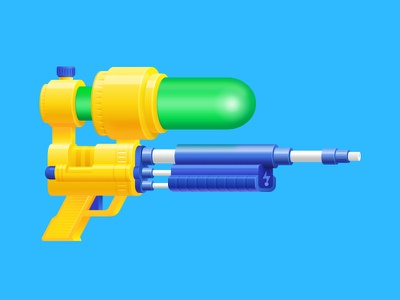 Super Soaker illustration water gun watergun soaker supersoaker super soaker affinity designer madeinaffinity