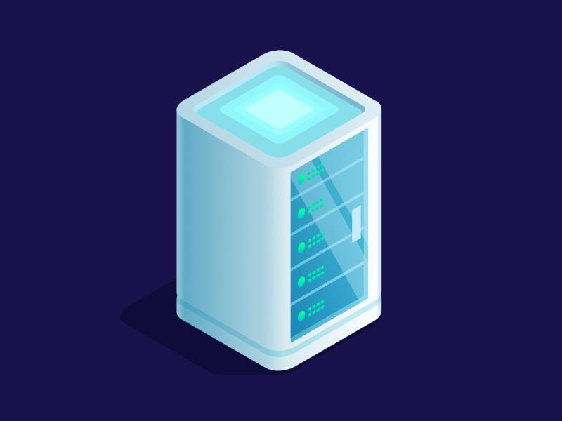 Server data data storage server isometric illustration affinity designer madeinaffinity